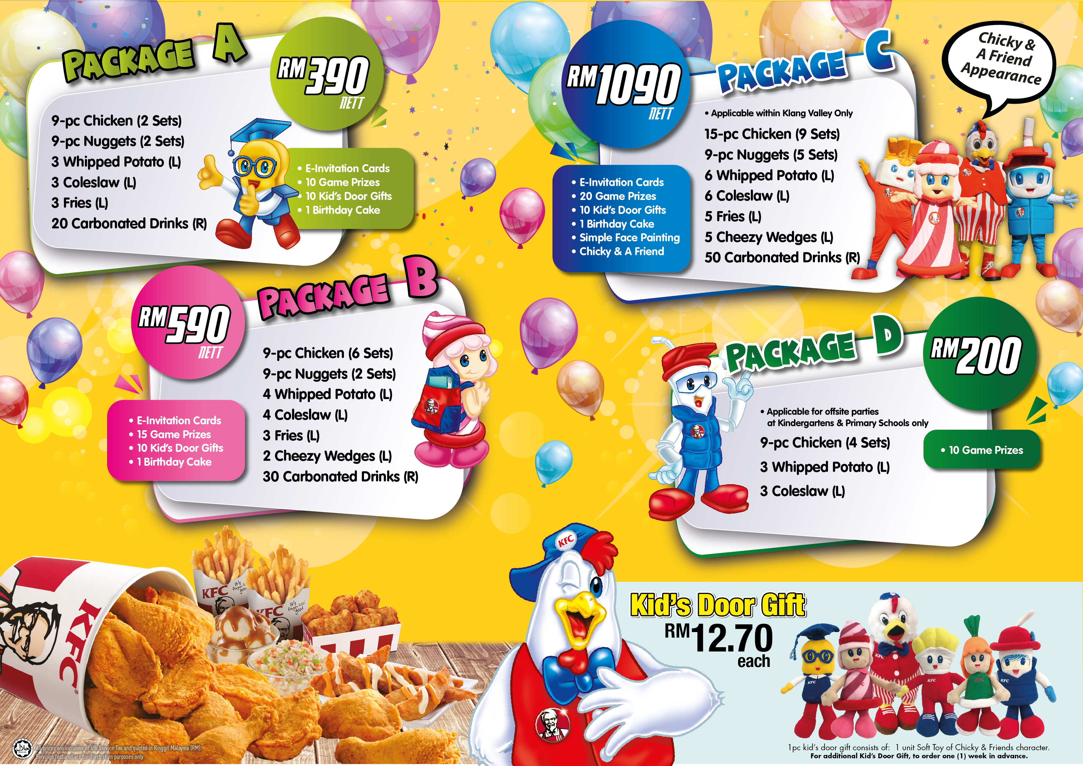 Birthday Packages Kfc Malaysia
